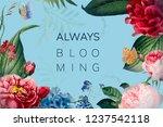always blooming floral frame... | Shutterstock .eps vector #1237542118