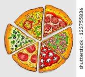illustration of tasty pizza