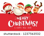 merry christmas  happy... | Shutterstock .eps vector #1237563532
