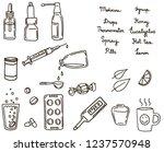 medicinal supplies  set of... | Shutterstock .eps vector #1237570948