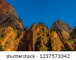 red white canyon walls  zion... | Shutterstock . vector #1237573342