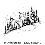 winter background with... | Shutterstock .eps vector #1237580242
