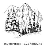 winter background with... | Shutterstock .eps vector #1237580248