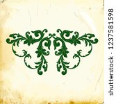 retro baroque decorations... | Shutterstock .eps vector #1237581598