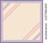 scarf design with diagonal... | Shutterstock .eps vector #1237582345