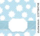beautiful frame on a seamless... | Shutterstock .eps vector #1237584748