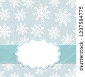 beautiful frame on a seamless... | Shutterstock .eps vector #1237584775