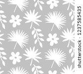 tropical leaves seamless... | Shutterstock .eps vector #1237585435