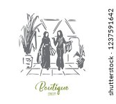 shopping  boutique  muslim ... | Shutterstock .eps vector #1237591642