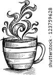 sketch doodle coffee cup vector ...   Shutterstock .eps vector #123759628