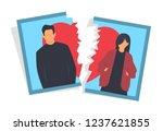 divorce concept  man and woman... | Shutterstock .eps vector #1237621855