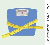 diet and weight loss concept ... | Shutterstock .eps vector #1237621975