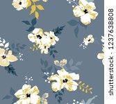 seamless floral pattern.... | Shutterstock .eps vector #1237638808
