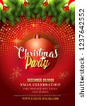 merry christmas party and happy ... | Shutterstock .eps vector #1237642552
