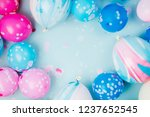 Colorful Balloons On Pastel...