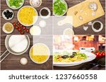 recipe step by step farfalle... | Shutterstock . vector #1237660558
