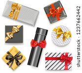 vector gift boxes icons... | Shutterstock .eps vector #1237662442