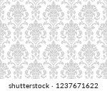 vector beautiful damask pattern....   Shutterstock .eps vector #1237671622