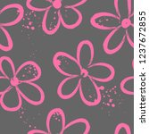 abstract seamless flowers... | Shutterstock .eps vector #1237672855