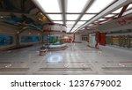 3d cg rendering of space station | Shutterstock . vector #1237679002