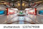 3d cg rendering of space station | Shutterstock . vector #1237679008