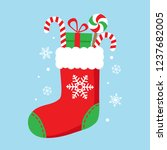 Christmas Sock With Candies And ...