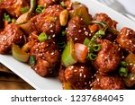 indian starter chilli chicken ... | Shutterstock . vector #1237684045