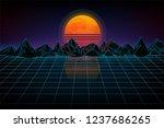 futuristic retro landscape of... | Shutterstock .eps vector #1237686265
