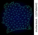 polygonal mesh map of ivory... | Shutterstock .eps vector #1237686442