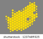 map of south africa | Shutterstock .eps vector #1237689325
