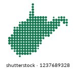 map of west virginia | Shutterstock .eps vector #1237689328