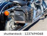 leather biker bag on a...   Shutterstock . vector #1237694068