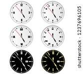 round dials vector. | Shutterstock .eps vector #1237696105