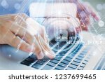 cyber secure antivirus | Shutterstock . vector #1237699465