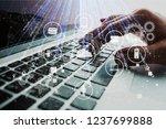 data management platform concept   Shutterstock . vector #1237699888