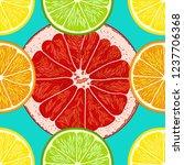 citrus oranges  lemons ... | Shutterstock .eps vector #1237706368