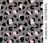 leopard seamless pattern ... | Shutterstock .eps vector #1237708192