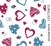 valentine seamless pattern with ... | Shutterstock .eps vector #123770872