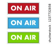 on air broadcast studio icons.... | Shutterstock .eps vector #1237732858