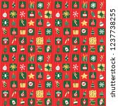 vector christmas background in... | Shutterstock .eps vector #1237738255