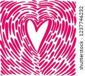 hand drawing heart in the form... | Shutterstock .eps vector #1237746232