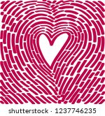 hand drawing heart in the form... | Shutterstock .eps vector #1237746235