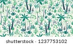 seamless pattern with abstract... | Shutterstock .eps vector #1237753102