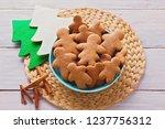 bowl full of homemade... | Shutterstock . vector #1237756312