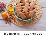 bowl full of homemade... | Shutterstock . vector #1237756318