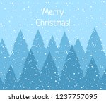 winter woodland landscape with... | Shutterstock .eps vector #1237757095