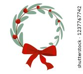 christmas tree branch... | Shutterstock .eps vector #1237767742