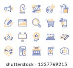 marketing  research line icons. ... | Shutterstock .eps vector #1237769215