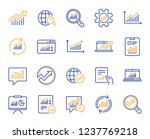 analytics  statistics line... | Shutterstock .eps vector #1237769218