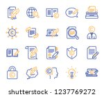 copywriting book line icons.... | Shutterstock .eps vector #1237769272